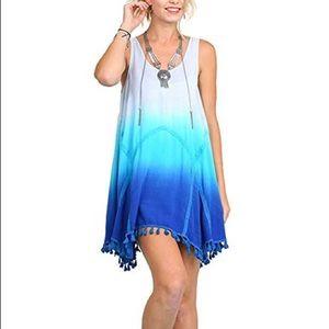 UmGee Blue Tie Dye Tank Dress